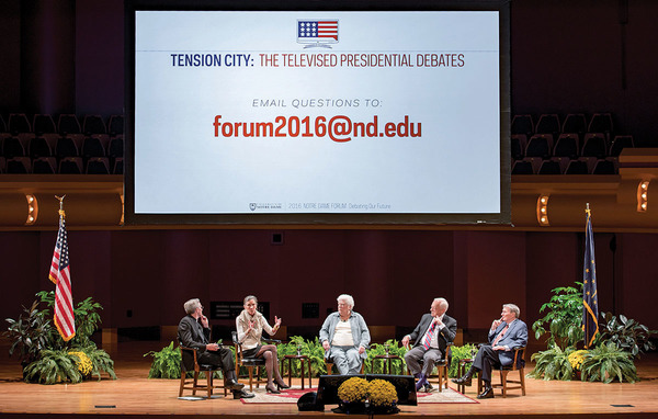 Discussing the upcoming debates: The 2016 Notre Dame Forum